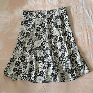 Kate Hill black and white floral skirt